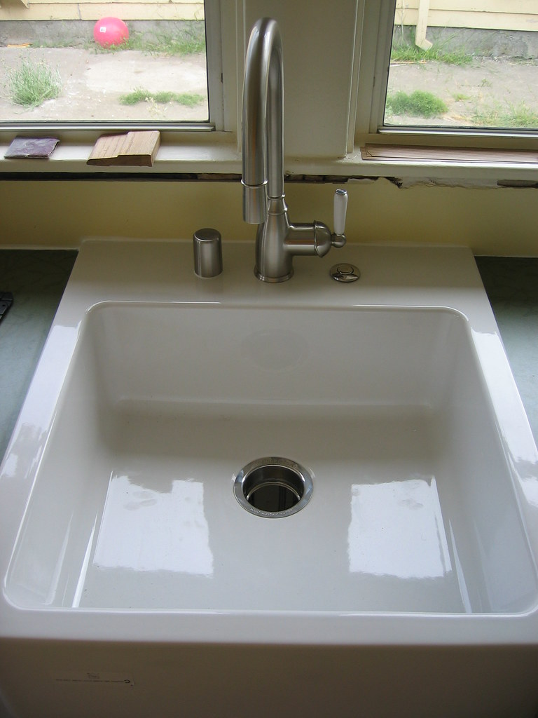 Kitchen Sink And Faucet Dishwasher Air Gap On The Left Hot For Garbage Disposal Right Cabinets Counter