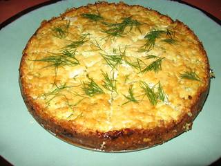 One Local Summer wk 11: zucchini ricotta cheesecake (whole)