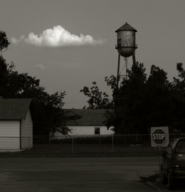 Cloud and Water Tower