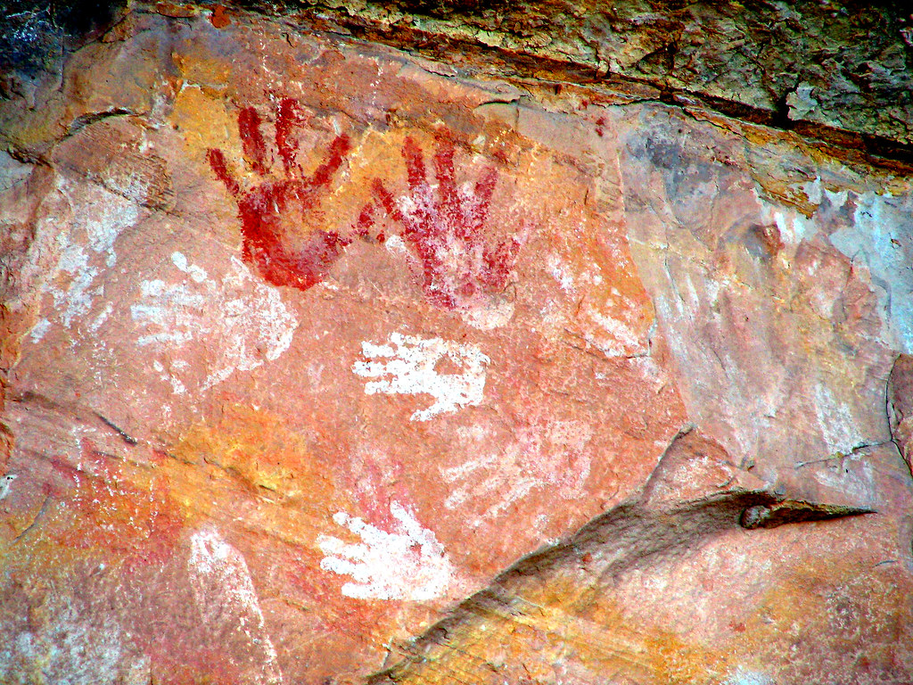 Hand Prints at Double Stack Ruin by Red Dirt Dawg