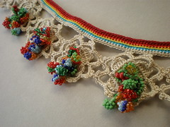 Myriagon ... Freeform Crochet Necklace