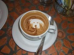 turkish coffee(0.0), espresso(1.0), cappuccino(1.0), cup(1.0), cortado(1.0), coffee(1.0), coffee cup(1.0), caff㨠macchiato(1.0), drink(1.0), latte(1.0), caffeine(1.0),