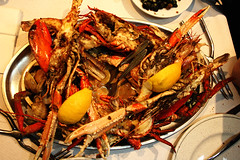 meal, crab boil, seafood boil, crustacean, fish, seafood, invertebrate, food, dish,