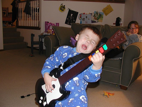 guitar hero baby by yellowblade67, on Flickr