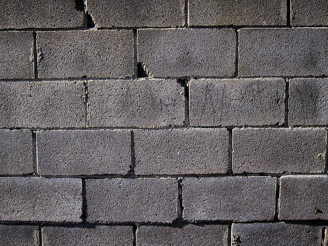 Concrete Block Wall Flickr Photo Sharing