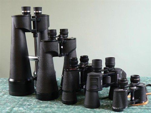 Binoculars - a working collection.