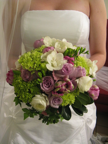 My Wedding Place Green And Purple Bouquet