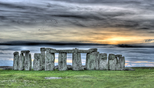 Sundown at Stonehenge, February 2008 by Acoustic Walden