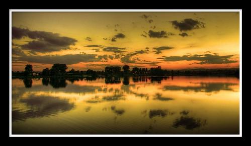 sunset panorama black reflection clouds photoshop view poland polska panoramic hdr sma zachód słońca on malopolska 3xp kryspinów 2ev hdrpanorama digifoto szyma smaphotopl