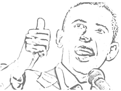 barack obama coloring pages - coloring day free page president printable trials ireland
