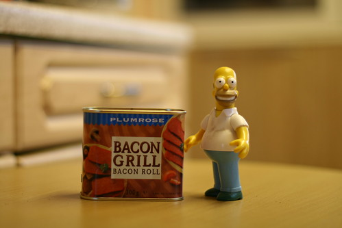 "Homers life is now complete. He's just discovered ""Bacon in a Can"" 234/365"