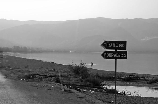 Tushemisht (Albania) - Road Sign