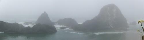 fog coast view or foggy scenic pacificocean oregoncoast pacificcoast