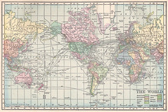 1911 World Map Public Domain Image Of World Map From Page Flickr