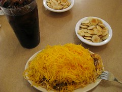 Skyline chili Dayton Ohio typical lunch