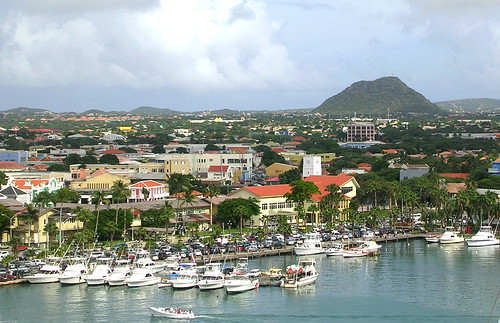 Aruba - Oranjestad from Ship