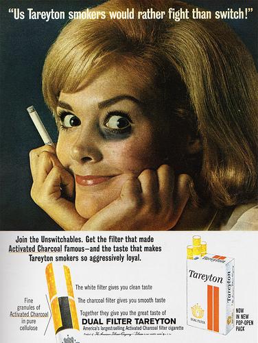 Us Tareyton smokers....