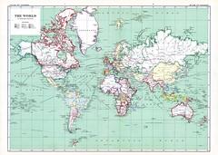 1915 world map | Patrick Barry | Flickr