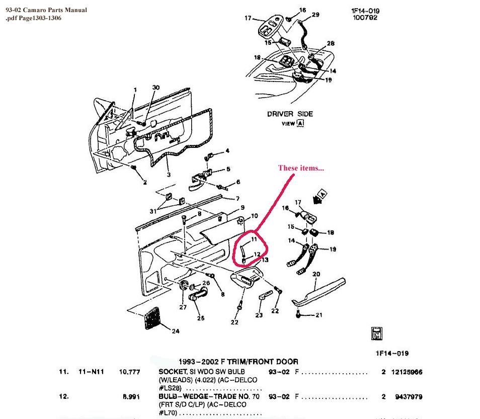 Help With Door Handle Light    - Camaro Zone