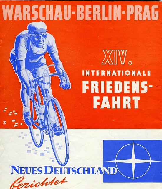 Neues Deutschland reports the 14th Peace Race XIV Friedensfahrt. 1961