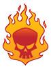 Flaming Skull - Stock Illustration Flaming Skull -