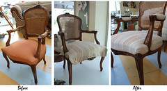 Dining chair upholstery job: Before & After