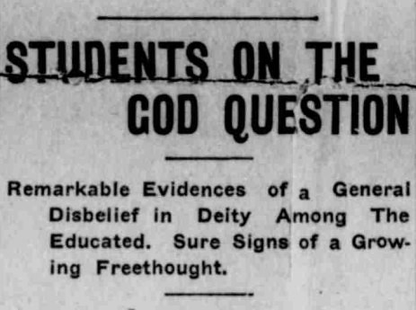 Students on the God Question