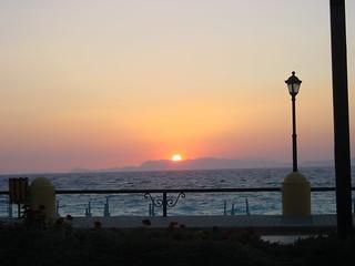 solnedgang over middelhavet