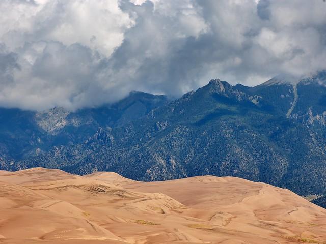 Great Sand Dunes National Park. Parque nacional y reserva Grandes Dunas de Arena. Colorado. Estados Unidos