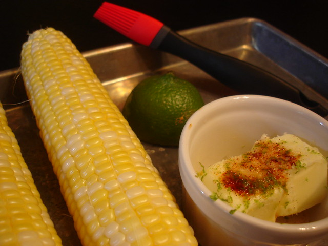 Grilled Corn on the Cob with Chipotle Lime Butter | Flickr - Photo ...