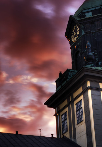 sunset clock sweden sverige norrköping hdr östergötland canon50mmf14usm johanklovsjö