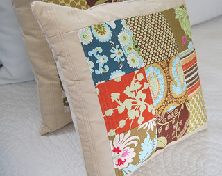 Nine Patch Quilted Pillow 2