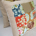 Nine Patch Quilted Pillow 2 by meringuedesigns