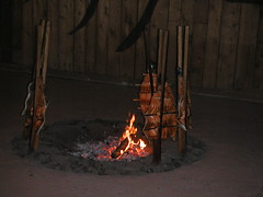 wood, fire, iron, flame, lighting, campfire,