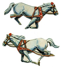 animal figure(0.0), carriage(0.0), rein(1.0), halter(1.0), bridle(1.0), pack animal(1.0), horse tack(1.0), horse harness(1.0), illustration(1.0),