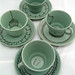 Doilies tea set on green
