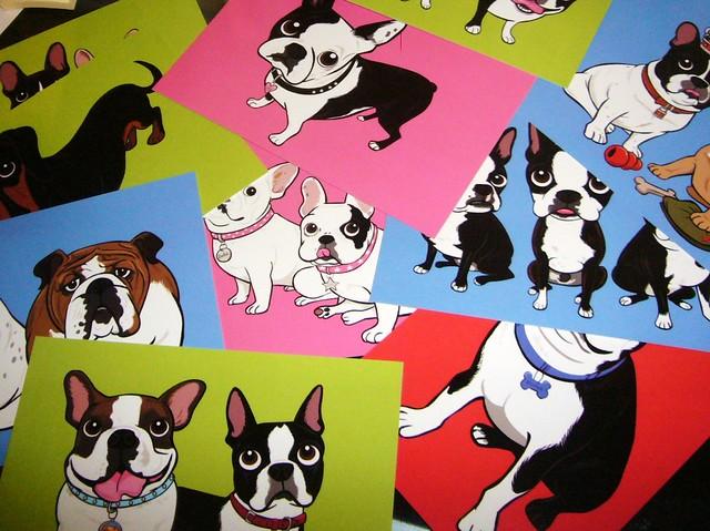 MOO postcards: Doggie Drawings!