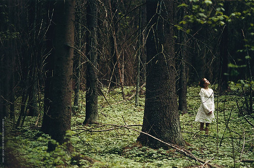 By Miina Savolainen girl in forest