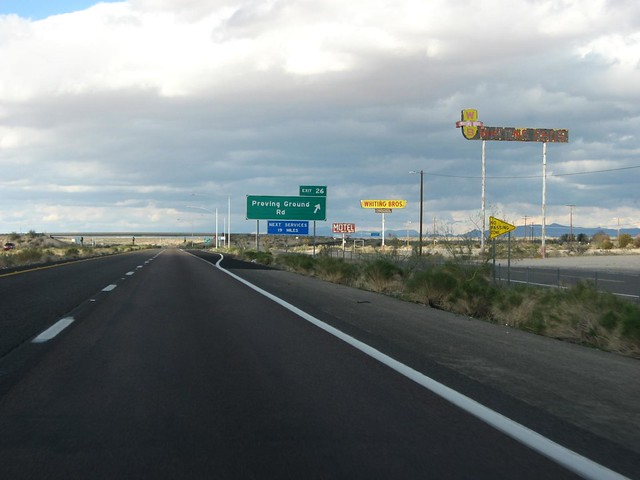 i-40 eastbound  yucca  arizona  exit 26  proving grounds road