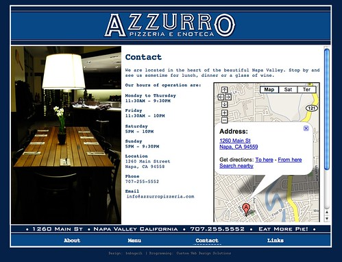 Azzurro Restaurant Menu Richmond Va