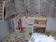 Newspaper'd books