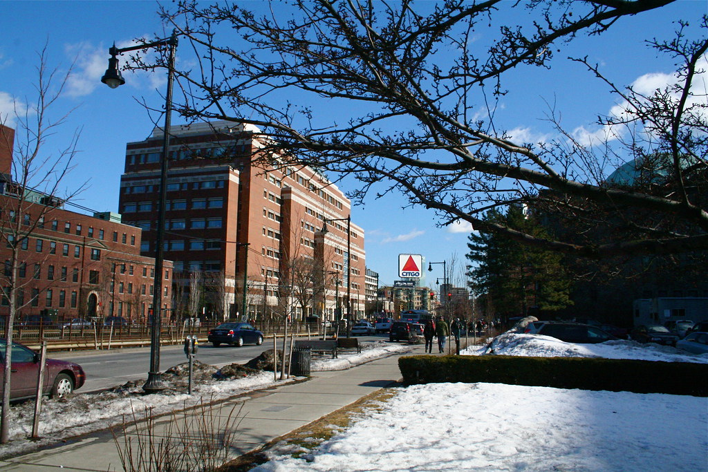 Boston University College Of Communication - Kenmore Square and Citgo Sign Viewed from Boston University ...