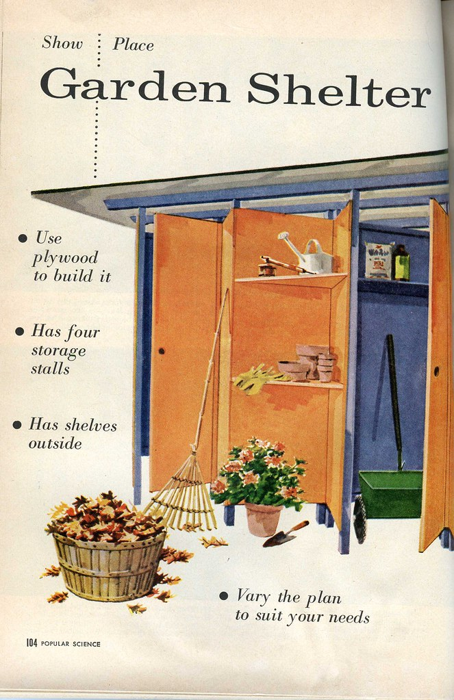 A shed for mid century modern homes historic shed florida for Mid century modern shed