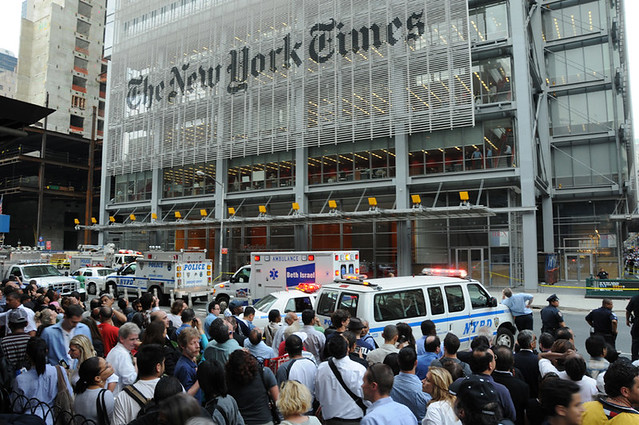 New York Times building in New York