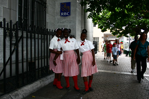Bahamian school girls