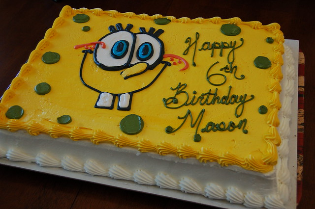 Sheet Cake Designs For 18th Birthday : Spongebob Square Cake Flickr - Photo Sharing!