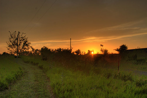 sunset ks kansas hdr tonemapped mclouth