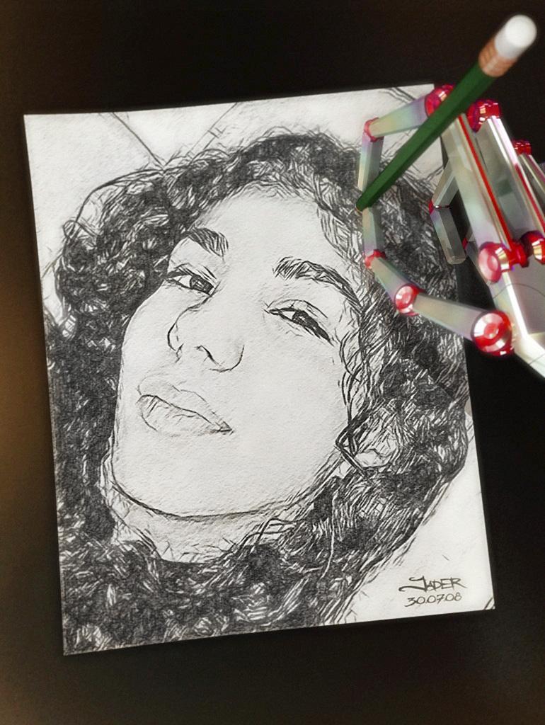 Laís - Desenho à mão by Jader Palma