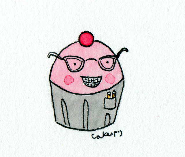 Cuppie with braces, glasses and pocket protector