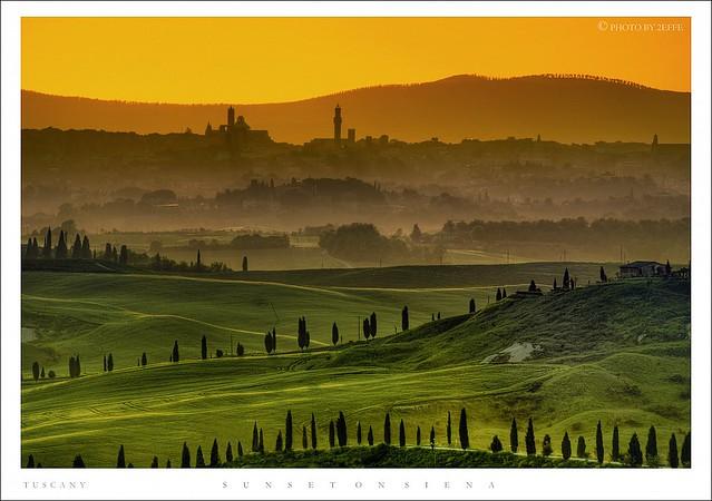 Sunset on Siena - Tuscany ( HDR )